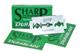 50 SHARP STAINLESS Double Edge Safety Razor Blades