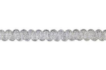 Belagio Enterprises 1.6cm Metallic Braid Trim 25 Yards, Silver