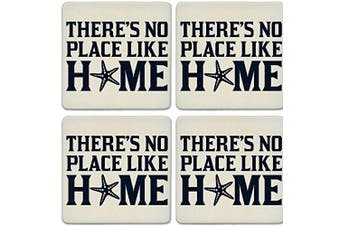 CoasterStone Absorbent Coasters, No Place Like Home Starfish (Set of 4), 10cm - 0.6cm , Multicolor