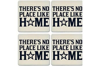 CoasterStone Absorbent Coasters, No Place Like Home Star (Set of 4), 10cm - 0.6cm , Multicolor