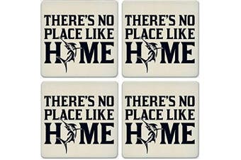 CoasterStone Absorbent Coasters, No Place Like Home Marlin (Set of 4), 10cm - 0.6cm , Multicolor