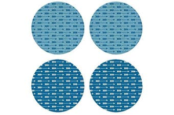 "CoasterStone Absorbent Coasters, ""Indigo Arrows"" (Set of 4), 10cm - 0.6cm , Multicolor"