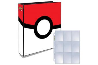 Pokemon Pokeball 3-Ring Binder with 25 Platinum Ultra-Pro 9-Pocket Pages