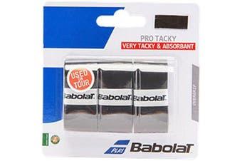 Babolat Pro Tacky Overgrip X3 Tennis Badminton Squash black