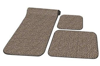 (Peppercorn Black) - Prest-O-Fit 5-0263 Decorian 3 Piece RV Rug Set Peppercorn Black
