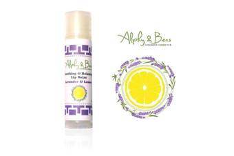 100% Natural Lip Balm -Lavender & Lemon - Soothing, Relaxing