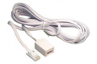 (5m) - Telephone Extension Lead 2m,3m,5m,10m,15m,20m White Extension Cable (5m)
