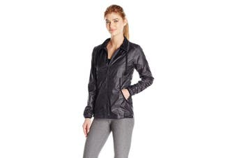 (Medium, Black Speckle Print) - ASICS Women's Lightweight Jacket