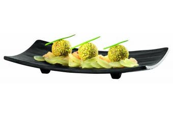 (Black) - APS 44451B22 Sushi Plate 22 x 12 cm Melamine