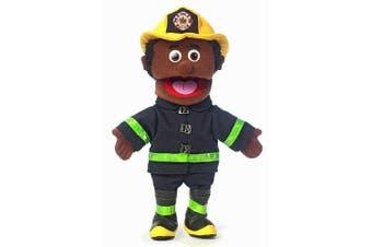 14 Fireman, Black Male, Hand Puppet