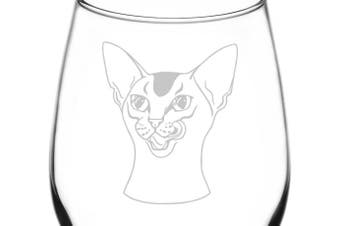 (Realistic Cat Breed Faces, Abyssinian) - (Abyssinian) Realistic Cat Breed Face Inspired - Laser Engraved 380ml Libbey All-Purpose Wine Taster Glass