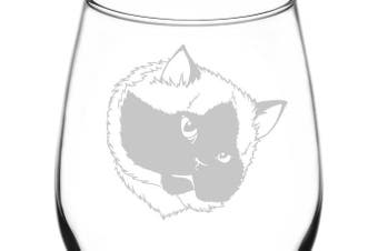 (Realistic Cat Breed Faces, Himalayan) - (Himalayan) Realistic Cat Breed Face Inspired - Laser Engraved 380ml Libbey All-Purpose Wine Taster Glass
