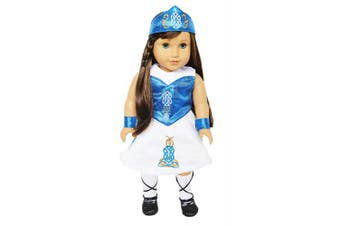 My Brittany's Blue Irish Dance Dress for American Girl Dolls