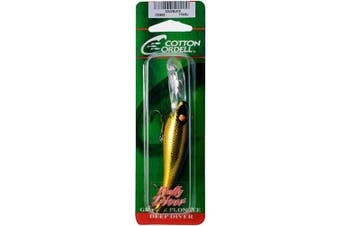 (7.9cm , Gold/Black) - Cotton Cordell Wally Diver Lures