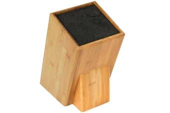 Mantello XL Universal Bamboo Wood Knife Block Storage Holder Organiser