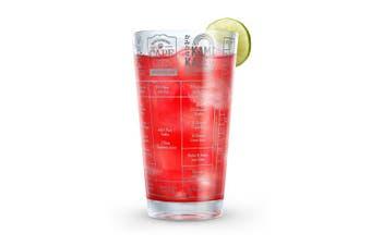 (Vodka) - Fred GOOD MEASURE Cocktail Recipe Glass, Vodka - 5192622