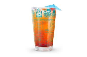 (Rum) - Fred GOOD MEASURE Cocktail Recipe Glass, Rum - 5192623