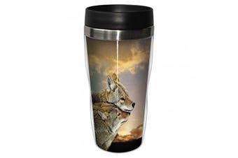 Sunset Loving Wolves 47cl Mug - Travel Tumbler by Tree Free