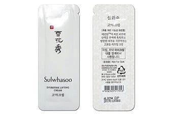 30 X Sulwhasoo Everefine Lifting Cream 1ml x 30pcs (30ml) Goa Cream AMORE PACIFIC and Hair Tie 1pc