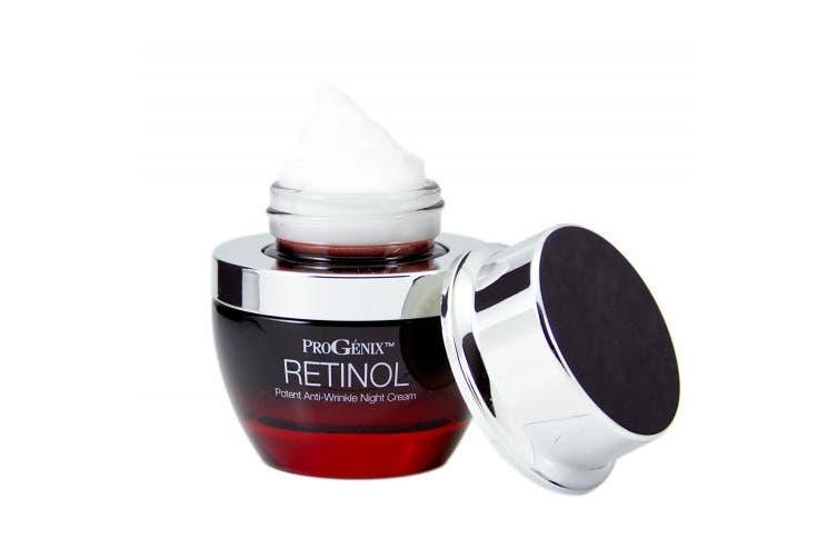 Progenix Profesional Skin Care Retinol Anti-Wrinkle Night cream for fine lines, deep wrinkles, sun damaged skin. 30ml