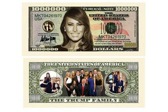 American Art Classics Pack of 10 - Melania Trump - First Lady - First Family Million Dollar Bills
