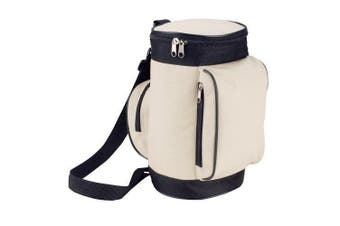 (Beige) - Insulated Cooler Lunch Bag in a Golf Caddy Style (Beige)