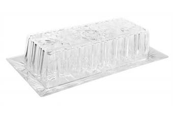 Snowflakes Unbreakable Plastic Butter Dish with Lid