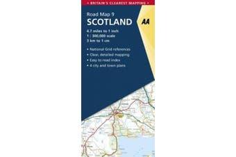 Road Map Britain 09 Scotland 1 : 300 000