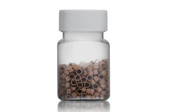 Micro Ring Beads for Hair Extensions 500 x 5mm (Threaded) Light Brown