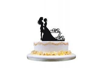 Lesbian wedding cake topper, same sex cake topper, mrs and mrs wedding cake topper
