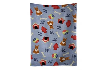 Caroline's Treasures BB2747KTWL Dog House Collection Bull Terrier Red Kitchen Towel , 38cm X 70cm , multicolor
