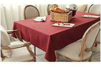 (Burgundy) - All For You Rectangular Fabric Table Cloth,Rectangle Washable Dinner Picnic Table Cloth,Assorted Colours- SIZE 130cm X 180cm (Burgundy)