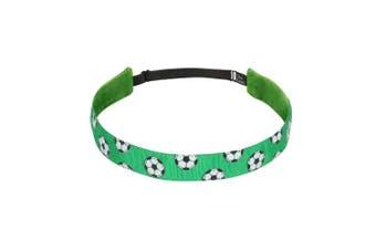 (Green) - Bani Bands Women's Soccer Adjustable Headband with Non-Slip Lining