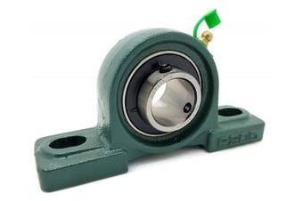 (12 Bearings) - UCP205-16 Cast Iron Pillow Block Mounted Bearing - 2.5cm Inch Inside Diameter w/ Set Screw Lock - P205-12 Bearings