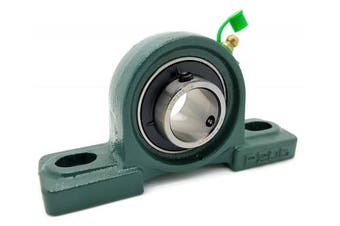 (9 Bearings) - UCP205-16 Cast Iron Pillow Block Mounted Bearing - 2.5cm Inch Inside Diameter w/ Set Screw Lock - P205-9 Bearings