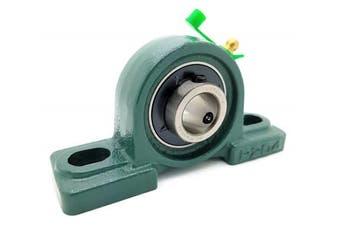 (2 Bearings) - UCP204-12 Cast Iron Pillow Block Mounted Bearing - 1.9cm Inch Inside Diameter w/ Set Screw Lock - P204-2 Bearings