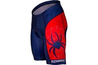 (Medium, Blue/Red) - Adrenaline Promotions Men's University of Richmond Cycling Shorts