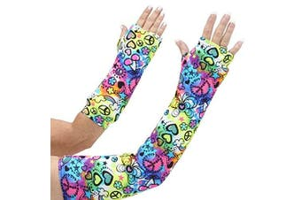 CastCoverz! Armz! Washable and Reusable Cast Cover in Peace of Fun - Medium Long