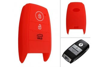 (3-Button-Keyless-B, red) - CK + Kia Ceed Picanto Silicone Car Key Case/Key Cover Case Cover for Rio Optima Carens