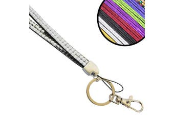 (Clear) - Wholesale Solutions Quality Bling Lanyard Rhinestone Diamonte Crystal Neck ID Card & Phone Holder