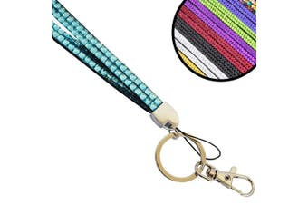 (Baby Blue) - Wholesale Solutions Quality Bling Lanyard Rhinestone Diamonte Crystal Neck ID Card & Phone Holder
