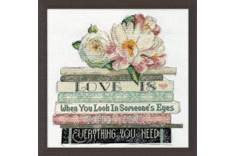 Design Works Crafts 25cm x 25cm Cross Stitch Kit, Love is Counted