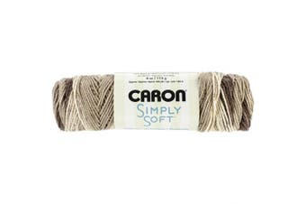 (Coffee Latte Brown) - Caron Simply Soft Ombre Yarn, 120ml, Coffee Latte Brown, Single Ball