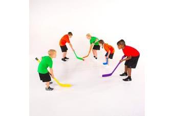 (Yellow) - Cosom Elementary Plastic Hockey Sticks for Floor Hockey, Ice Hockey, and Street Hockey for Kids, Youth Hockey Training Equipment, Physical Education Equipment, Plastic 90cm Stick, Standard Shaft