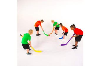 (Purple) - Cosom Elementary Plastic Hockey Sticks for Floor Hockey, Ice Hockey, and Street Hockey for Kids, Youth Hockey Training Equipment, Physical Education Equipment, Plastic 90cm Stick, Standard Shaft