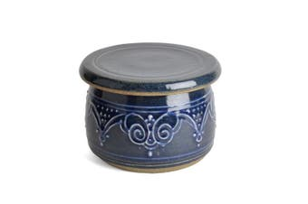 (Blue) - The Potters, LTD French Butter Dish, Blue