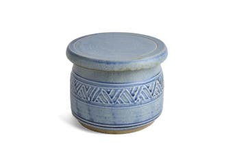 (Light Blue) - The Potters, LTD French Butter Dish, Weathered Blue