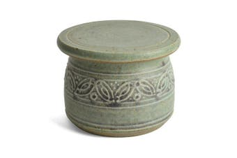 (Green) - The Potters, LTD French Butter Dish, Green