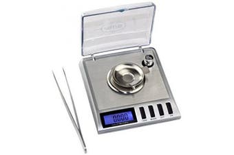 GEM20 High Precision Digital Portable Milligramme Scale, 20 by 0.001 G Reloading with Salver Ideal for Weighing Gems, Diamond,Jewellery and other Precious Objects