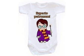 (18-24 months, 92 cm, White) - Colour Fashion Harry Potter Expecto Patronum! Boy Girl Unisex Bodysuits Shortsleeve 100% Cotton Tiny Baby - 24 Months 0020